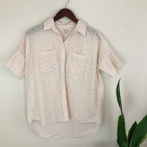 Madewell eyelet courier button down